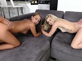 blonde,doggystyle,group sex