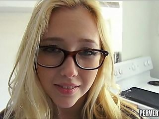 blonde,teen,glasses